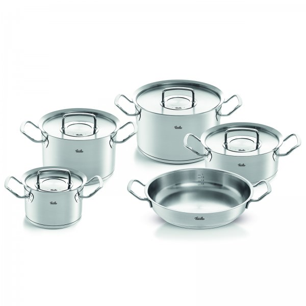 Fissler 5-teiliges Topfset pure-profi collection mit Servierpfanne