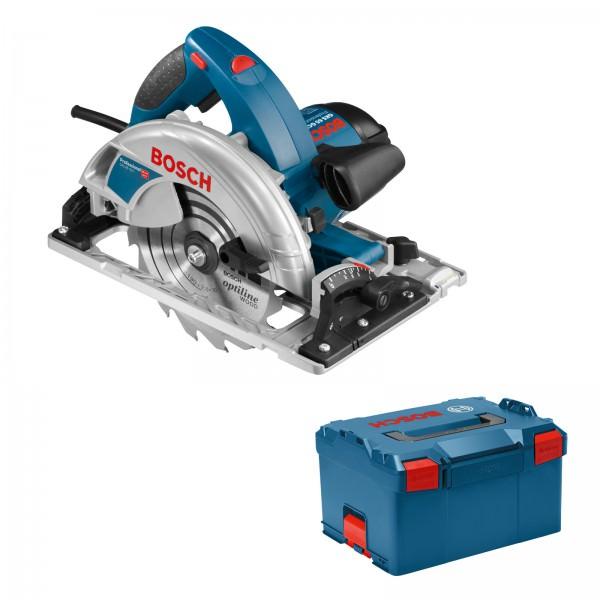 Bosch Handkreissäge GKS 65 GCE in L-Boxx Koffer mit Sägeblatt 0601668901