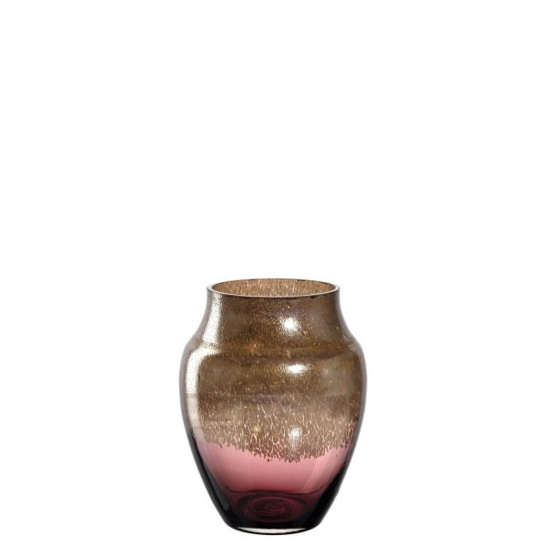 Leonardo 23cm Vase Poesia 071122 burgunder gold Glas handgefertigtes Unikat