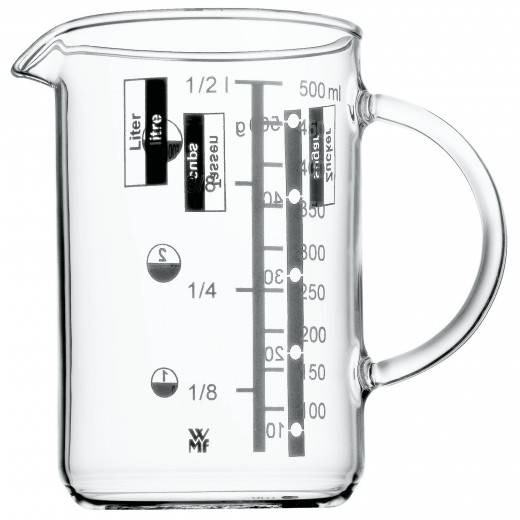 WMF 605962000 Messbecher 0,5l Gourmet hitzebeständiges Glas Spülmaschinengeeignet