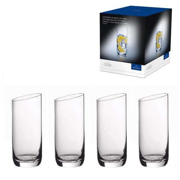 Villeroy & Boch 4-teiliges Longdrinkgläser Set NewMoon 370ml Kristallglas 1136538260