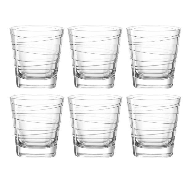 Leonardo 019449 Vario Struttura Wasserglas Saftglas Whiskey 6er Sortiment