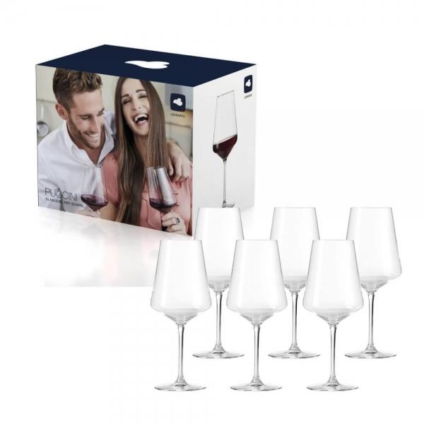 Leonardo 069554 6er Paket 120ml Puccini Rotweinglas