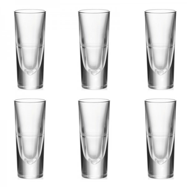 Leonardo 043406 6er Set Schnapsglas 150ml Grappabecher Gilli Bar Vodkaglas