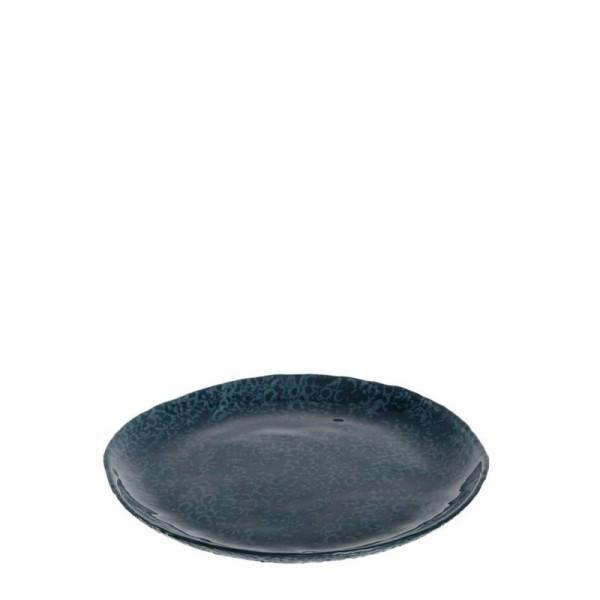 Leonardo 085085 Teller 22cm blau Firenze Glas Frühstücksteller Kuchenteller Servierplatte