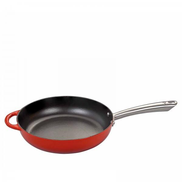 Küchenprofi 28cm Bauernpfanne hoch PROVENCE Gusseisen emailliert Rot 0403051428