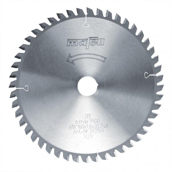 Mafell Sägeblatt-HM 160 x 1,2/1.8 x 20 mm Z 48, FZ/TR