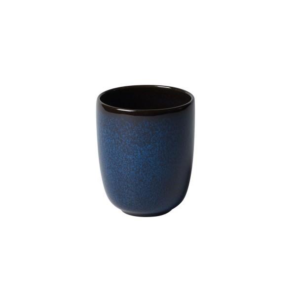 Villeroy & Boch 400ml Becher ohne Henkel Lave bleu Steingut