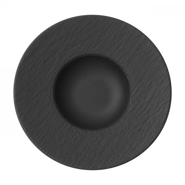 Villeroy & Boch 28cm Pastateller Manufacture Rock schwarz Schiefer-Optik Porzellan