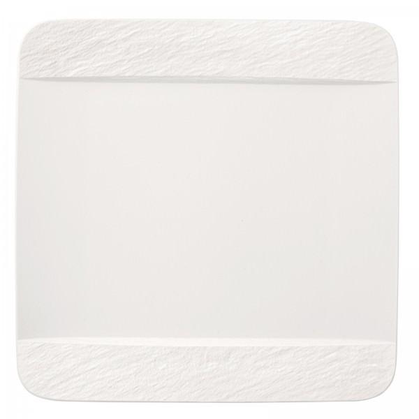 Villeroy & Boch 28cm Speiseteller quadratisch Manufacture Rock blanc Serie