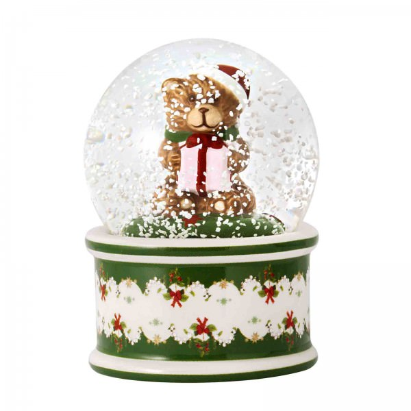 Villeroy & Boch 9cm Schneekugel Christmas Toys Porzellan Motiv Bär. Hauptbild.