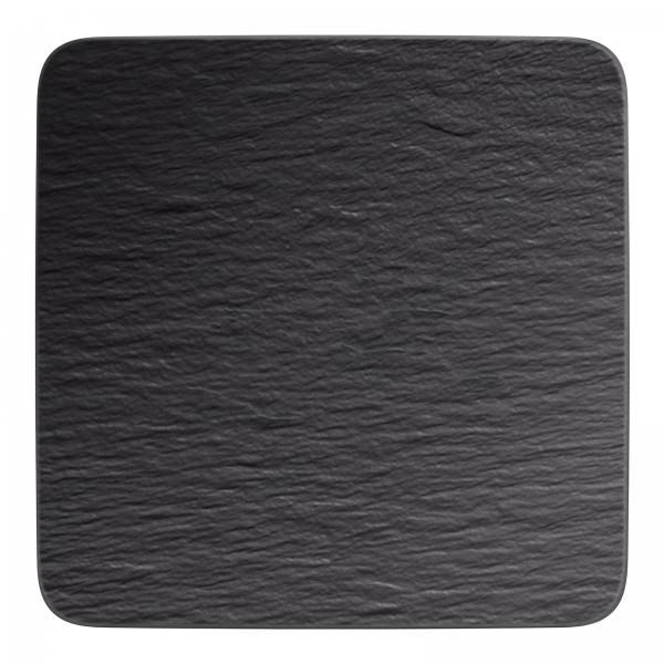 Villeroy & Boch 33cm quadratische Servierplatte Manufacture Rock Gourmetteller