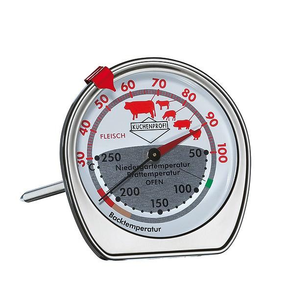 Küchenprofi 8cm Bratenthermometer Ofenthermometer 2 Skalen Edelstahl bis 100°