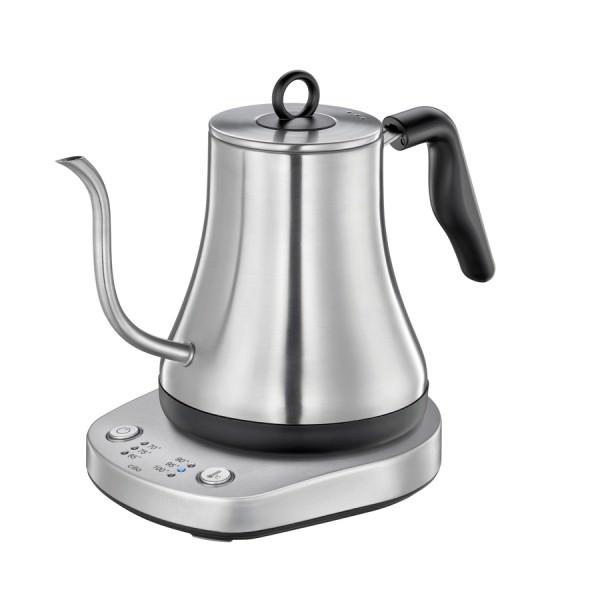 Cilio 19cm Handbrüh Wasserkocher LUCCA 1,2 Liter Edelstahl für Kaffee und Tee