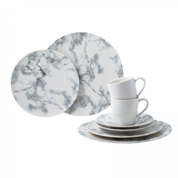 Villeroy & Boch 8-teiliges Kaffee Set Marmory Weiß