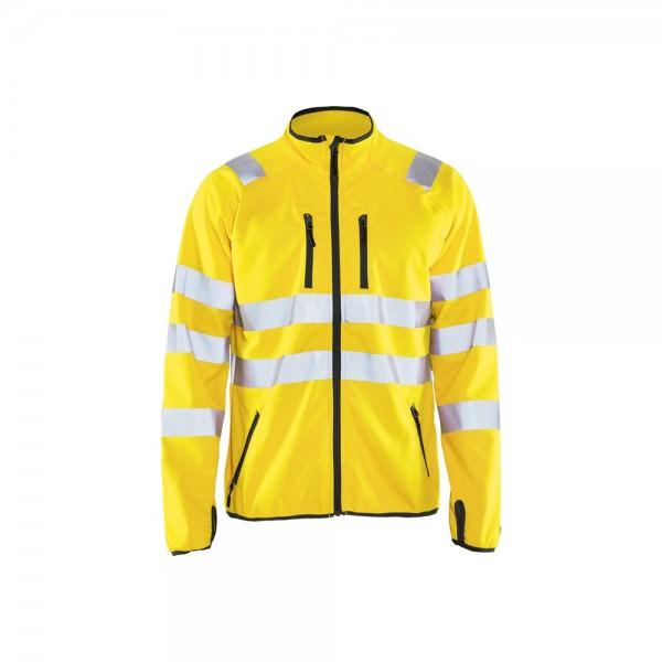 Blakläder 4906 2512 High Vis Softshell Jacke Warnschutzjacke Daumenschlaufen Gelb