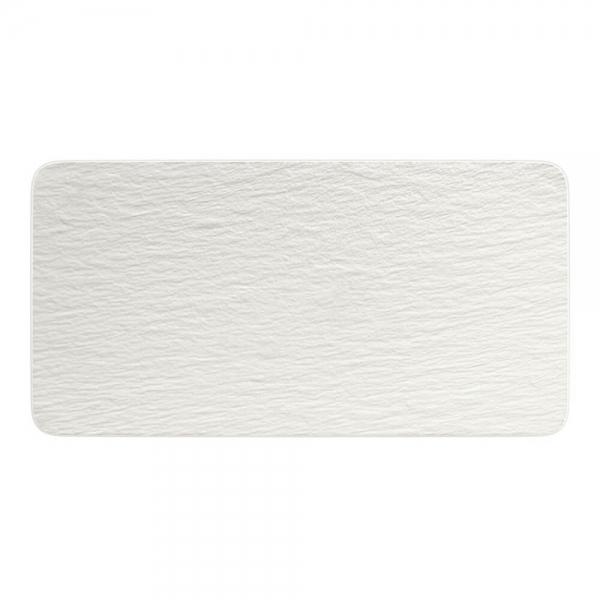Villeroy & Boch 35x18cm Servierplatte rechteckig Manufacture Rock blanc Porzellan Schiefer Optik