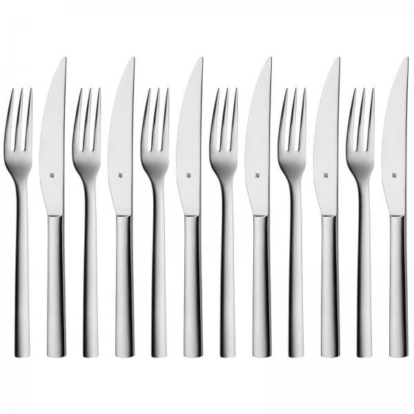 WMF 12-teiliges Steakbesteck Set Nuova für 6 Personen Edelstahl 1291436046