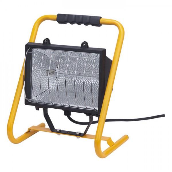 Halogen Lampe H 1000 für außen und innen aus robustem Stahl und stabilem Schutzgitter