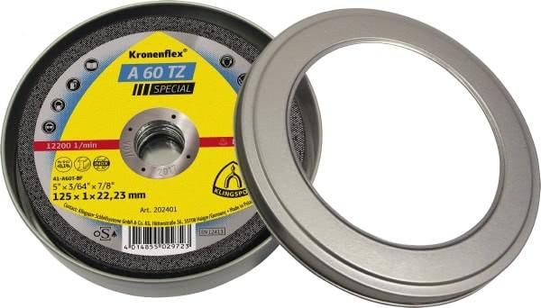 Klingspor Trennscheiben Dose 10x A60TZ Special 115x1x22,23mm oder 125x1x22,23mm