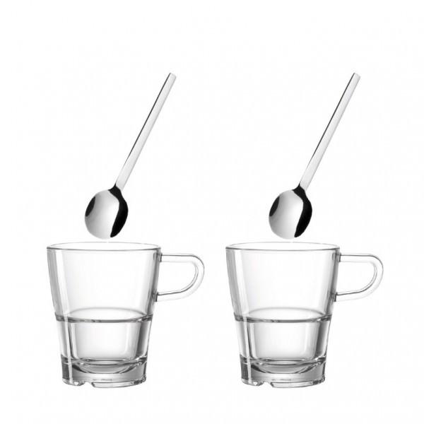 Leonardo 024023 4-tlg Senso Kaffeeset Kaffeetasse Teetasse