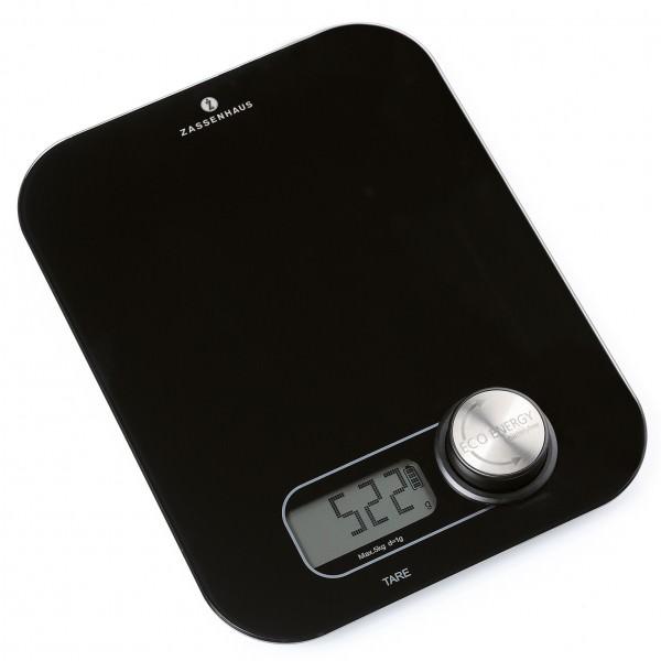 Zassenhaus 25cm Digitale Küchenwaage 1g bis 5kg Eco Energy schwarz
