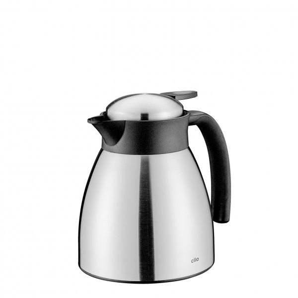 Cilio 500ml, 1000ml oder 1500ml Isolierkanne Edelstahl Doppelwand bruchsicher Kaffeekanne Teekanne