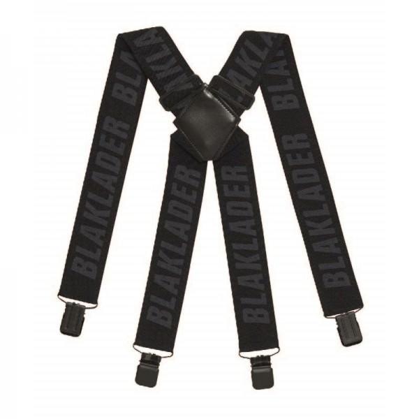Blakläder 400910069900 Hosenträger schwarz breit starker Gummi und Klammern