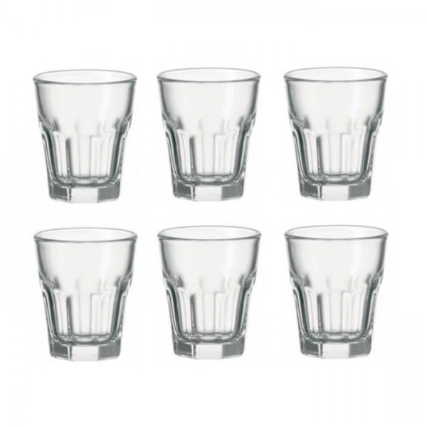 Leonardo 6er Set Glas 50ml Stamper Rock Saftglas Wasserglas