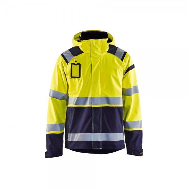 Blakläder High Vis Shell Softshell Jacke gelb marineblau