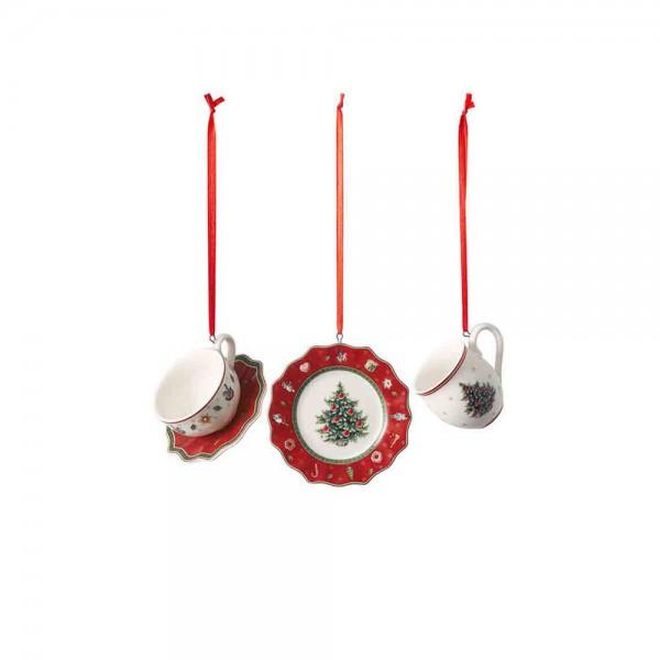 Villeroy und Boch 4x7cm 3teiliges Ornamente-Set Hauptbild bGeschirr rot Toy's Delight 1486596665