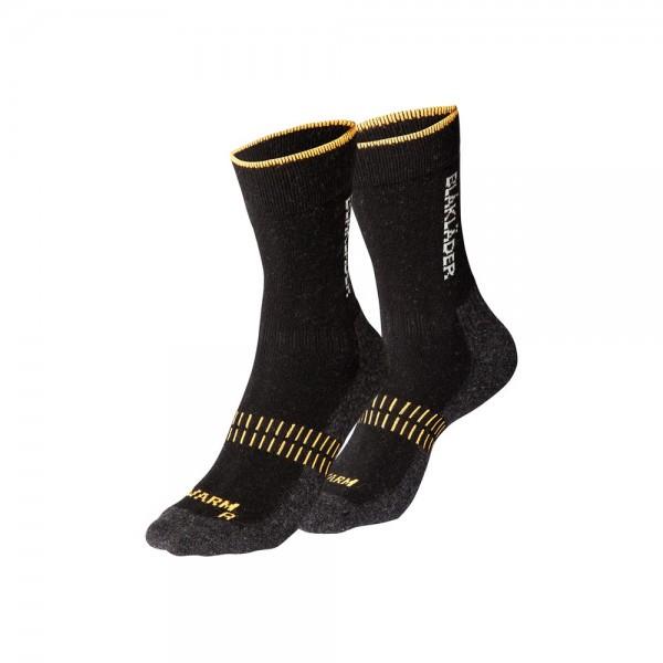 Blakläder Socken WARM Arbeitssocken schwarz neon orange