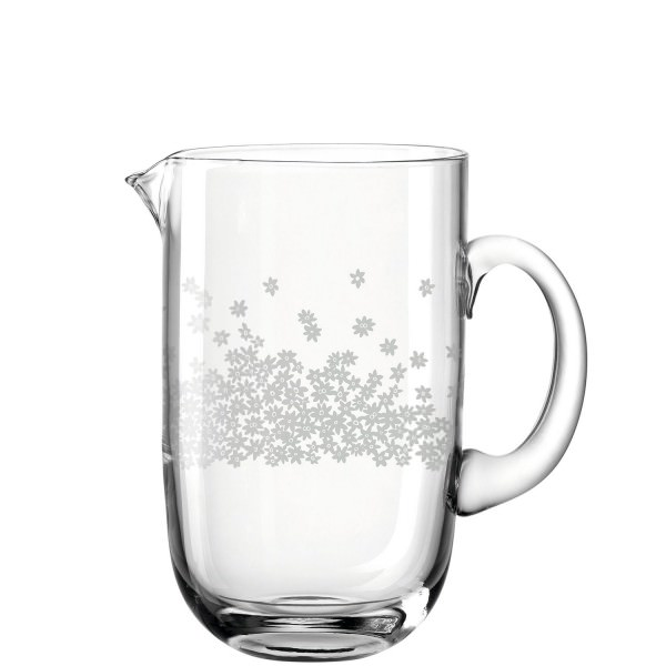 Leonardo 1200ml 19cm Krug ARONA Blütenmuster Glas handgefertigtes Unikat 025714