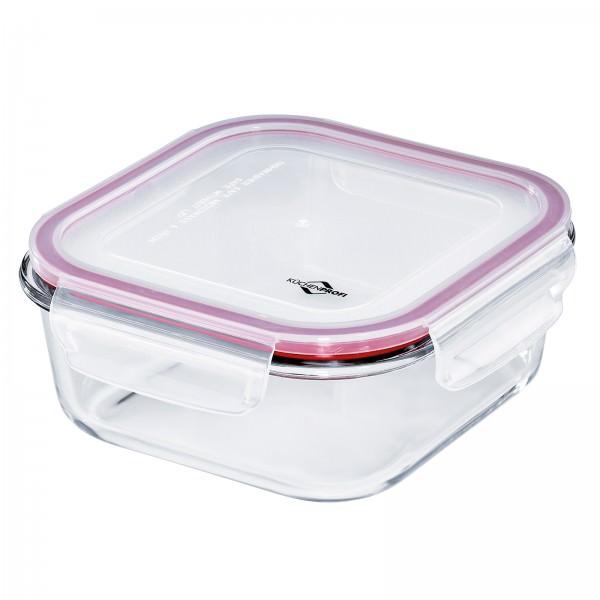 Küchenprofi 18cm 1200ml Lunchbox Vorratsdose Glas quadratisch auslaufsicher 1001803518