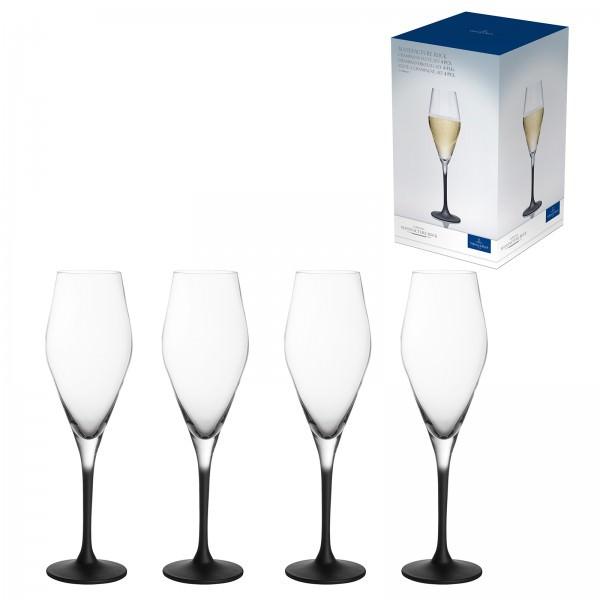 Villeroy & Boch 4er Set 260ml Champagnerkelch Manufacture Rock Kristallglas Champagnerglas Sektglas