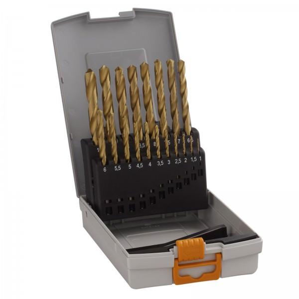 Hawera 19-teiliges Metallbohrer Set Pro-Box HSS-TIN Titan 1 bis 10mm