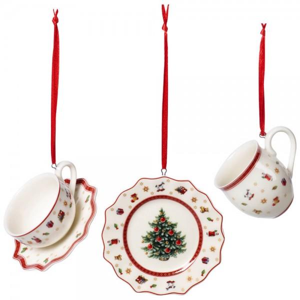 Villeroy & Boch 3-teiliges Set Ornamente Geschirrset Toy's Delight Decoration