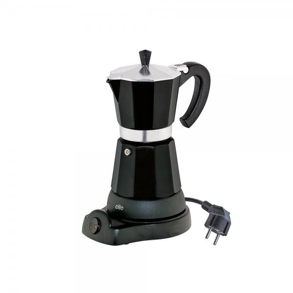 Cilio elektrischer Espressokocher Classico für 6 Tassen Aluminium in Schwarz
