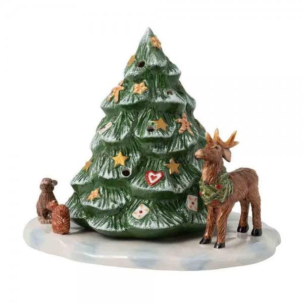 Villeroy und Boch 23x17cm Christmas Toys Porzellan Weihnachtsbaum mit Waldtieren. Hauptbild.