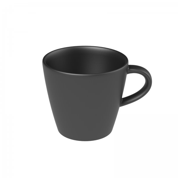 Villeroy und Boch 100ml Manufacture Rock Mokka-/Espressoobertasse Porzellan schwarz