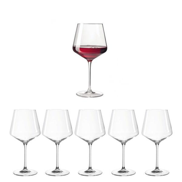 Leonardo 069555 6er Set Puccini Burgunderglas 730ml Teqton Rotweinglas Weinglas Spülmaschine
