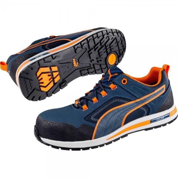 Puma 643100 Sicherheitsschuh Crosstwist Low S3 HRO SRC blau orange 41-46