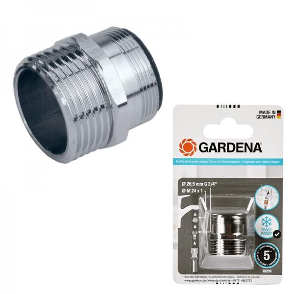 """Gardena Perlstrahl-Gewindeadapter 26,5mm G3/4"""" M24x1 18209-20 Frostsicher"""