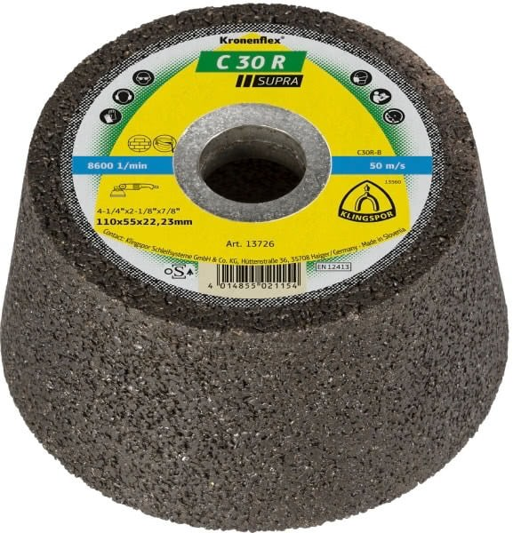 Klingspor Schleiftopf C30R Supra 110x55x22,23mm für Stein Werkstoffe