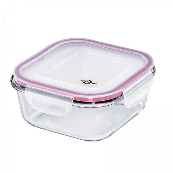 Küchenprofi 16cm 800ml Lunchbox Vorratsdose Glas quadratisch auslaufsicher 1001803516