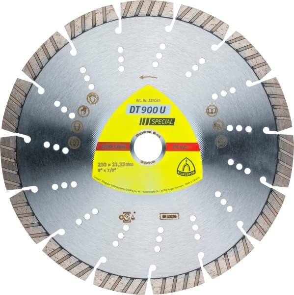 Klingspor DT 900 U Diamanttrennscheibe 230x2,6x22,23mm